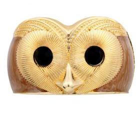Stunning Unique Owl Gold Plated Cuff Bracelet